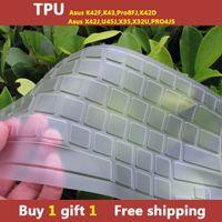 asus buy - TPU laptop Keyboard cover skin protector for asus K42F K43 Pro8FJ K42D X42J U45J X35 X32U PRO4JS buy one gift one