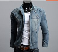 blue jean jacket - Denim jacket coat spring autumn winter men jean jacket sport outdoor casual jacket plus size M XL mens jackets and coats
