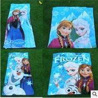 Wholesale Christmas Cartoon Frozen Towel Elsa Anna OLAF cotton Princess towels bathroom children baby beach towel kids girls boys bath towel styles