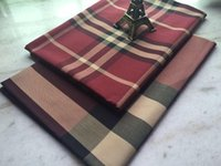 red plaid fabric - Pf22 Twill Cotton Plaid fabric cloth textile tartan red color retail or by the meter