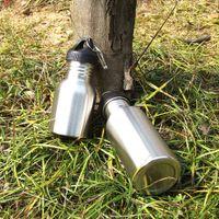 steel water bottles - 750ml Outdoor Sports Stainless Steel Bottle Wide Mouth Drinking Water Bottle for Camping Bike Cycling Y0526