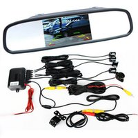 backup camera system - Car Rear View Parking System Parking Sensors TFT LCD Mirror Monitor Wireless Rear View Backup Camera Factory