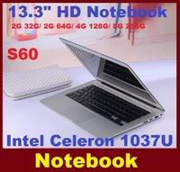 Wholesale DHL FREE inch laptop computer intel Celeron U GHZ Dual Core GB GB windows camera laptop notebook Resolution HDMI