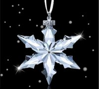 Wholesale Hot Christmas Star Crystal Snowflakes Ornaments Annual Edition Ornament Car Accessories Car Pendants