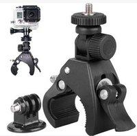Go Pro Hero3+/3/2/1 adapter handles - Bike Handlebar Handle Bar Camera Mount Adapter Motorcycle Clamp Clip Mountain Bike Camera Clip DV SJ4000 Hero4 adapter bike clip
