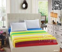 Wholesale High Quality Bed Sheets Polyester Different Striped Printing Multicolor Comfortable Mattress Cover Home Textiles