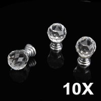 Wholesale 20mm Round Handle Cabinet Cupboard Crystal Glass Drawer Door Knobs Pack of PTSP