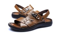 aokang shoes - Chinese brands AOKANG genuine leather Roman sandals men s sandals shoes