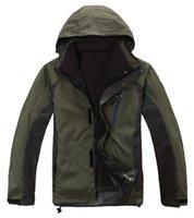 Wholesale JW brand Hi Q men Outdoor waterproof windproof warm jacket male two Piece set detachable in climbing wear Casual Ski coat