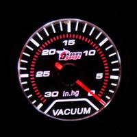 Wholesale Car Motor Universal Smoke Len quot mm IN HG Indicator Vacuum Gauge Meter White LED Light Display order lt no track