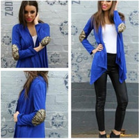 Wholesale Fashion Women Lady Slim Casual Blue White Long Sleeve Cardigan Jacket Coat Outerwear