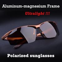 aluminum magnesium - 2015 Male Fashion Sun glasses Polarized Gafas Aluminum Magnesium Alloy Polaroid Sunglasses Men Brand Designer Cool Car Driving Oculos
