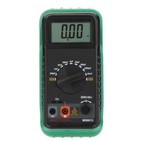 Wholesale MASTECH MS6013 Digital Capacitance Meter Capacitor Tester Measuring pF mF order lt no track