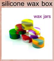 Wholesale Ecig reusable silicone wax box Wax Containers Silicone jars container silicone contianer for wax silicone jars dab wax container FJ049