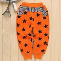 american comfort pants - European And American Kids Trousers Years Old Single Cartoon Star Pattern Spell Color Printing Comfort Recreational Sports Trousers C