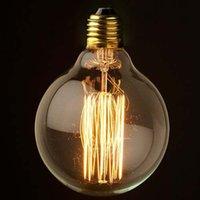 Large Filament Light Bulb: large filament light bulbs - 1900 Antique Vintage Lamp CM Large Edison  Halogen light Bulb W V V,Lighting