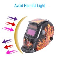Wholesale New Stylish High Quality Flame Ghost Type Solar Auto changing Shade Welding Helmet Grinding Welder Mask PIT_103