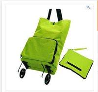 Cheap Wholesale Portable Fashion tug package Folding shopping bag shopping cart Trolley case wheels car Best Gift for Mom Frozenc1078 20pcs