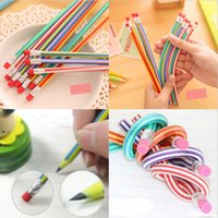Wholesale New Magical Colorful Flexible Soft Magic Bending Pencil Set Creative School Supplies Gifts inch