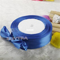 Wholesale 2014 New Solid Ribbon Tape Party Decoration Satin Ribbons DIY Wedding Ribbons