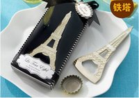 Wholesale Creative novelty home party items The Eiffel Tower bottle opener wedding favors gift box packaging