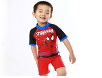 Wholesale Swimsuits For Baby Cartoons - 2016 Swimsuit Cartoon childrens swimwear swimsuits Costume For Kids Summer Baby Beachwear Boys Piece Swimsuit BH1780