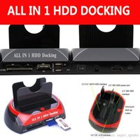 Wholesale All In One quot quot IDE SATA HDD Hard Drive Disk Clone Holder Dock Docking Station e SATA