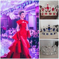 big prom hair - Baroque Extravagant Bridal Hair Full Crowns Wedding Gold Tiaras Crystal Prom Pageant Party Big Crowns Tiaras Accessory