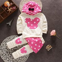 baby bow outwears - 2015 baby girls casual Minnie mouse christmas outfits clothing set t shirt pants kids clothes suit girl s Outwear for baby