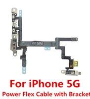 metal bracket - 100 Original for iPhone G Power Button Switch Sleep Wake Volume Mute Button Flex Cable Metal Brackets