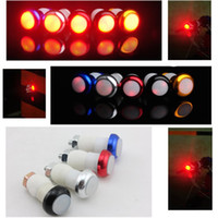 bar end lights bicycle - Bicycle Bike Handle Bar End Plug mode Red Light LED Warning Safety Lamp Type B068