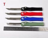 Wholesale New MICROTECH AP Custom HALO V T E satin Plain knife Tanto Edge Tactical knife knives new in original box Via DHL