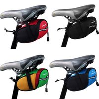 bicycle saddle green - New Arrival Roswheel Outdoor Cycling Mountain Bike Bicycle Saddle Bag Back Seat Tail Pouch Package Black Green Blue Red