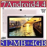 Wholesale A34 Cheapest Allwinner inch A33 Quad Core Tablet PC Android DDR3 MB ram GB rom Dual Camera Flash Wifi OTG External A33 Q88 PB7B