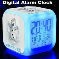 alarm clock for sale - Hot Sale Frozen Alarm Clock with Colors Change LED Digital Alarm Clock Night Colorful Changing gift For Children DHL OM XL5