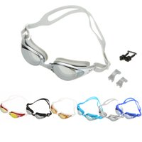 Wholesale Professional Adult Anti fog Waterproof Glasses and UV Shield Protection HD Silicone Swimming Goggles With Box