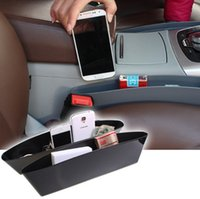 Wholesale 2 pack New Car Seat Catcher Car Organizer Car Sturdy Extra Storage Seat Side Pocket Holders for Phone Papers Traveling
