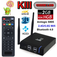 hdd player - Android TV Box K3 KIII Mini PC G G UHD K OTT Amlogic S905 Quad Core G G Wifi M LAN Bluetooth Kodi D Movie HDD Media Player