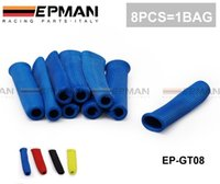 Wholesale Tansky EPMAN Spark Plug Wire Boot Heat Sleeve Wrap Protector Header Cover Degree Blue EP GT08
