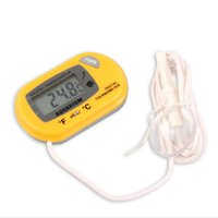 Temperature Controller aquarium pet temperature controllers - LCD Digital Aquarium Thermometer Pet Fish Tank Household Water Meter With Sucker Design Yellow