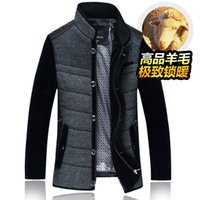 Wholesale Fall Plus size M XL Brand N Leidun man winter wool coat outerwear men business casual cotton padded thickening jacket freeshipping