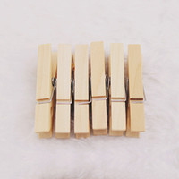 Wholesale MM Mini Wooden Peg Photo Paper Clothe Natural Clothespin Craft Clips Natural Decoration