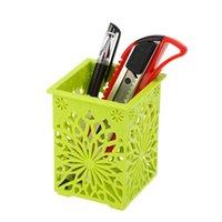 Wholesale New Delicate Creative Mini Carved Pen Pencil Container Holder Desktop Decoration Desk Tidy Various In Colors Organization