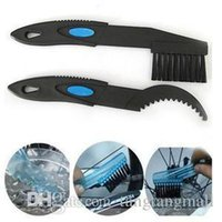 Wholesale New Set x Portable Professional Bicycle Bike Chain Cleaner Brush Outdoor Cleaner Scrubber Tool