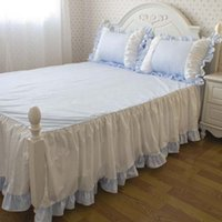 Wholesale Bed skirt piece set cotton sheets bedspread princess piece set separate bed skirt bed skirt