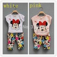 Cheap kids clothes Cartoon Girls Summer Clothes Baby Suits Kids T Shirt +pants Children Clothing Set