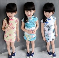 Wholesale Clothing Manufacturer Children Dress Design Party Frocks Cheongsam For Years Old Girls Dress