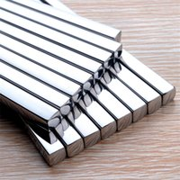 Wholesale Household Stainless Steel Chopsticks Square Heat Stainless Steel Chopsticks Hotel Restaurant Stainless Steel Chopsticks pair