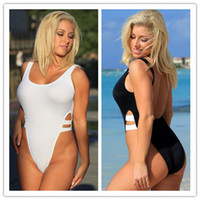 bath suits one piece - Women New High Waist One Piece Swimsuit Monokini Cut Out Bandage Swimwear Beachwear Bath Suit