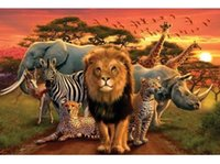animal kingdom rooms - Colorful Art Custom Wall Paper African Kingdom Animals Prints posters Wall Sticker x75cm home decor